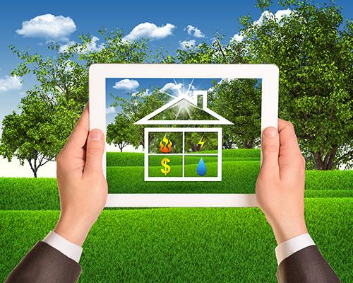 Tablet Looking Home Savings