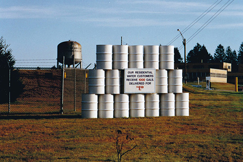 Water Plant Sign 1989