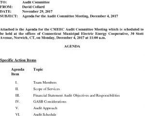 Icon of CMEEC Audit Committee Agenda 12-04-2017