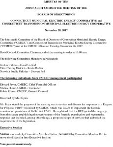 Icon of CMEEC Audit Committee Meeting Minutes 11-28-2017