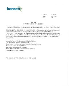 Icon of TRANSCO BOD Meeting Cancellation 12-21-2017