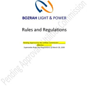 Icon of Bozrah Rules And Regulations - Pending Approval - 08 22 2018