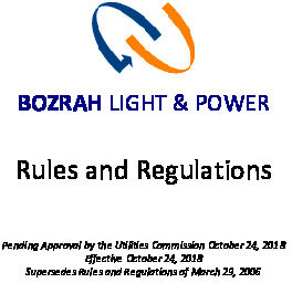 Icon of Bozrah Rules And Regulations