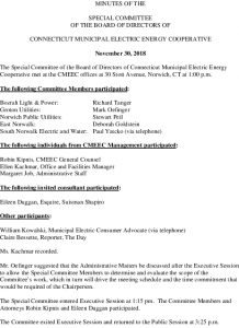 Icon of CMEEC Special Committee Meeting Minutes 11-30-2018