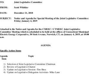 Icon of CMEEC Legislative Committe Agenda 01-04-2019