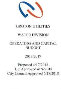 Icon of Water Division Budget - 2019