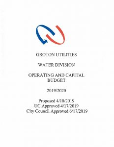 Icon of Water Division Budget - 2020