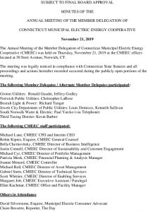 Icon of CMEEC Member Delegation Annual Meeting Minutes 11-21-2019