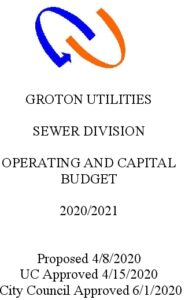 Sewer Division Budget 2021