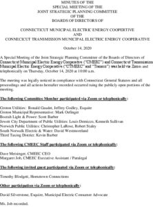 Icon of CMEEC Special Strategic Planning Committee Minutes 10-14-2020