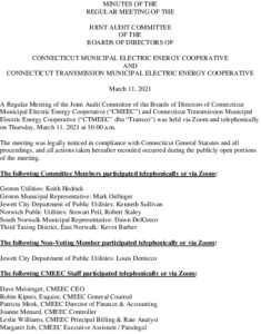 Icon of Joint Audit Committee Minutes 03-11-2021