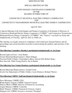 Icon of Special Budget And Finance Committee Minutes 04-20-2021