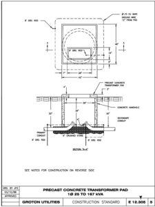 Icon of E 12-305 1-ph 25-167 KVA Xfmr Pad