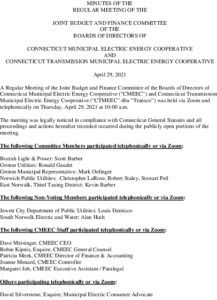Icon of Joint Budget & Finance Committee Minutes 04-29-2021