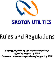 Icon of Groton Utilties Rules And Regulations